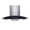 ALK-T03 Stainless Steel Chimney Hood Kitchen Hood Cooker Hood 90cm with Glass Panel