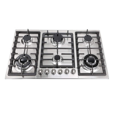 ALK-6802 6 Burners Stainless Steel Built-in Gas Hob Gas Stove with Good Price