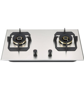 ALK-S2306 Stainless Steel Gas Stove Gas Hob Gas Cooker for Kitchen with 2 Burners