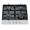 ALK-4508 Black Built-in Tempered Glass Gas Hob Gas Stove with 4 Burners 60cm