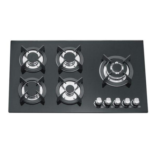 ALK-5804 Tempered Glass Built-in Gas Hob Gas Stove with 5 Burners 90cm