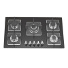 ALK-5807 Tempered Glass Built-in Gas Hob Gas Stove with 5 Burners 90cm