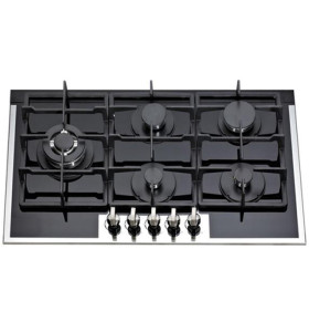 ALK-5909B Tempered Glass Built-in Gas Hob Gas Stove Gas Cooker with 5 Burners 90cm