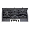 ALK-5909B Tempered Glass Built-in Gas Hob Gas Stove Gas Cooktop with 5 Burners 90cm