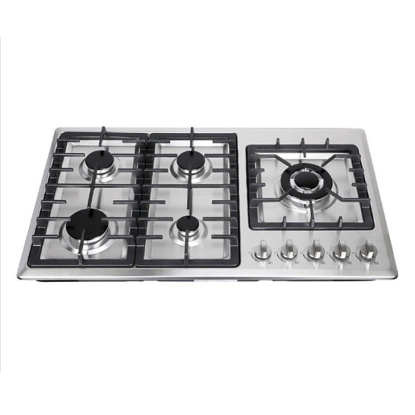 ALK-5807 5 Burner Stainless Steel Gas Stove Gas Hob with Cheap Price