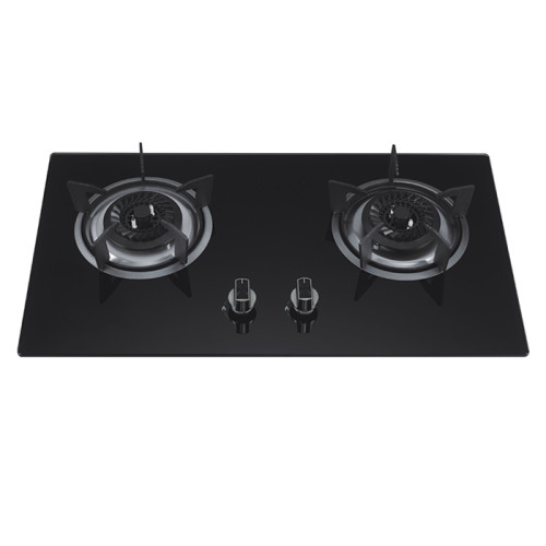 ALK-D7042 Tempered Glass Built-in Gas Hob Gas Stove with Safety Device 2 Burner