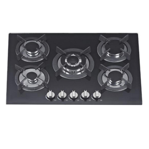 ALK-5601 Tempered Glass Built-in Gas Hob Gas Stove with 5 Burners 90CM