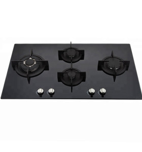 ALK-G9041 Glass Top Gas Hob Gas Stove Gas Cooker with 4 Chinese Sabaf Burner 90cm