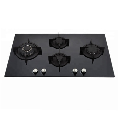 ALK-G9041 Glass Gas Hob Gas Stove Gas Cooktop with Cast Iron Pan Support