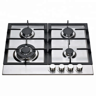 ALK-S6040 Stainless Steel Gas Hob Gas Stove Gas Cooktop with Cast Iron Pan Support