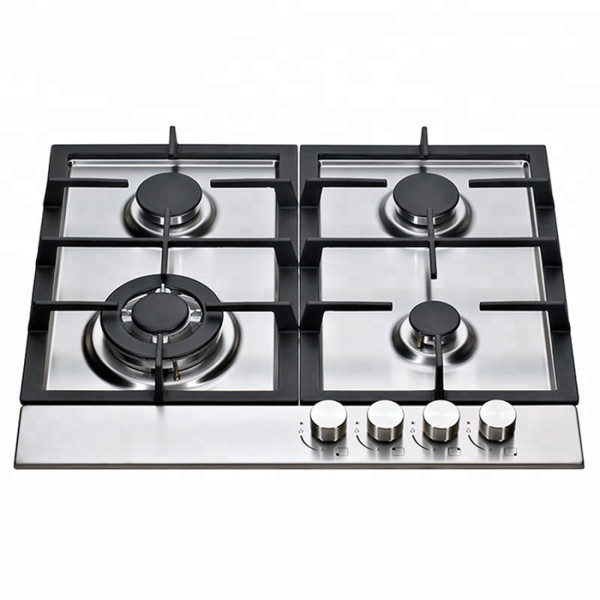 ALK-S6040 Stainless Steel Gas Hob Gas Stove Gas Cooker with Cast Iron Pan Support 60cm
