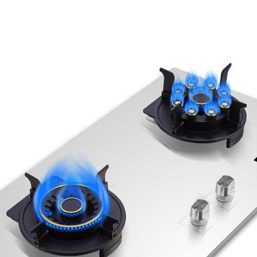 ALK-S2305 Stainless Steel built in Gas Burner Gas Hob Gas Stove Gas Cooker with Two Copper Gas Burner