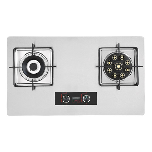 ALK Gas Kitchen Appliance G15 Stainless Steel Built-in Gas Hob with 2 Burners