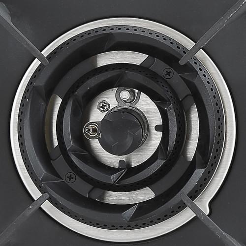 760mm LPG Portable Cast Iron Stainless Steel Gas Hob Built-in 2 Burner