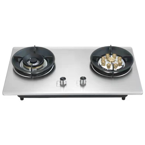 Silver Built in Gas Hob Made in China with Stainless Steel Cooktop