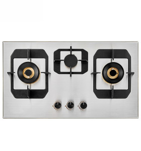 Gas Appliance Built in 3 burners Stainless Steel Gas Hob with Safety Device 76cm
