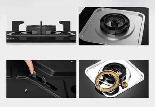 ALK-D7021 Black 2 Burner Built-in Gas Hob with Glass Cooktop LPG
