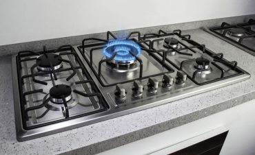 ALK-5809 Built In Stainless Steel Gas Hob Gas Stove Cooking Plate 5 Burner for Kitchen Use