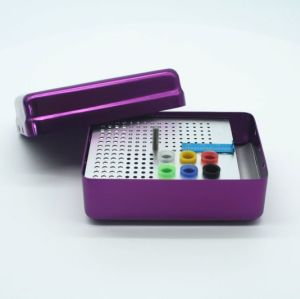 180 hole high temperature and high pressure 6 large hole tape ruler sterilization box