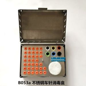 Stainless steel bur sterilization box
