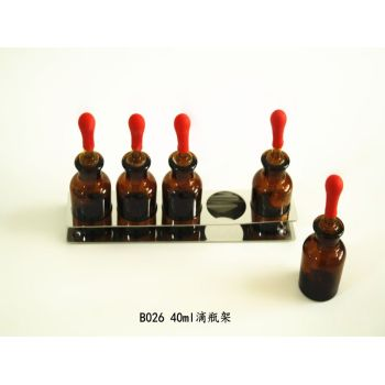 40ml brown drop bottle medicine rack
