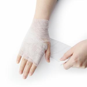 الجملة القطن مستشفى الطبية قطع ضمادة الشاش لفة للحروق والجروح التفاف