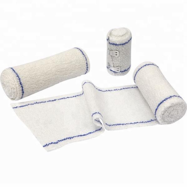 Оптовая торговля хлопчатобумажной эластичной хлопковой креповой повязкой для растяжения связок лодыжки