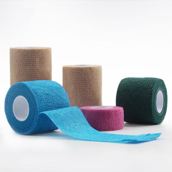 スポーツケアのための卸売自己粘着性綿粘着包帯
