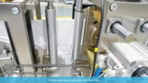 Suntech Automatic Head Strap Foldable N95 Mask Making Machine