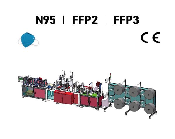 Suntech High Speed Automatic N95 /FFP2 Earloop Foldable Mask Machine