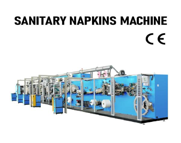 SUNTECH high quality automatic Full servo Sanitary Napkin machinery