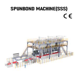 Automatic PP Spunbond Production Line SSS nonwoven fabric making machine
