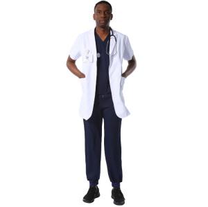 高品质医院制服磨砂短袖慢跑者带有徽标的设计师