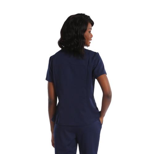 高品质医护制服为护士医院制服擦洗宝蓝色