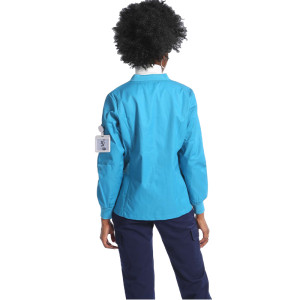 V-neck Zip-up Hospital Uniforms Scrub Jacket
