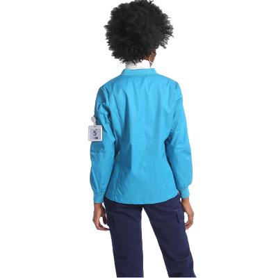 制服外套设计标志可定制设计长短医用V领外套纯棉