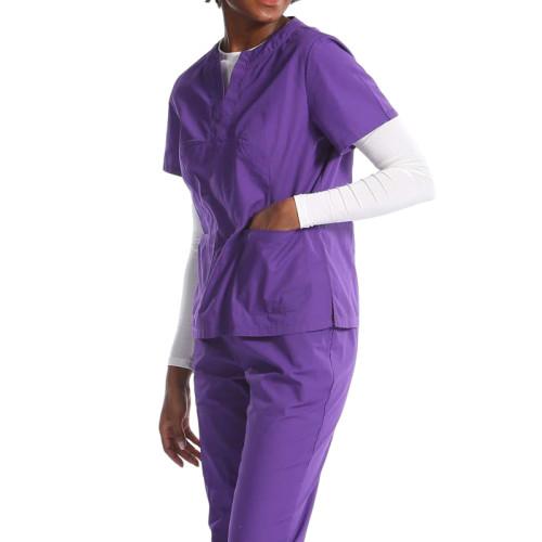 可定制医务人员擦洗服的设计徽标,长短医疗拆分