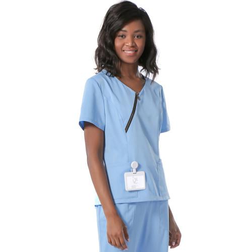 Scrub Uniforms For Nurses   Zip-up Scrub Tops Special   Loose Slit Hem Pants   Custom Medical Uniforms Affordable