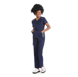 Unisex Scrub Uniforms For Nurses  | V-neck Short Sleeve Scrub Uniforms Tops | Quick Dry Scrub Uniforms Sets Wholesale
