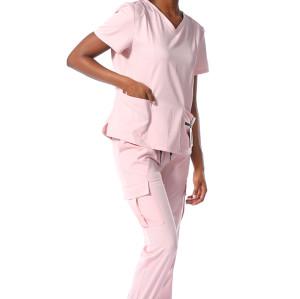 Scrub Uniforms With Pocket | Simple Style Scrubs | Pink Scrubs With Pockets | Scrubs Uniform Customization