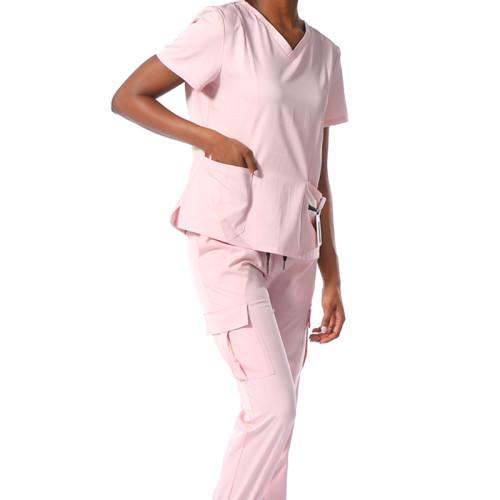 负担得起的磨砂制服短袖白色可定制的不同颜色的制服