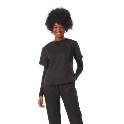 可以添加高品质的黑色磨砂制服套装,可以添加短袖和内部慢跑者徽标