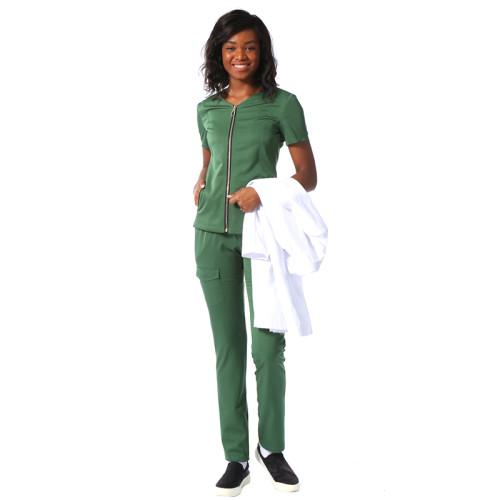 高品质长袖定制医院制服,带有用于医生和护士的徽标