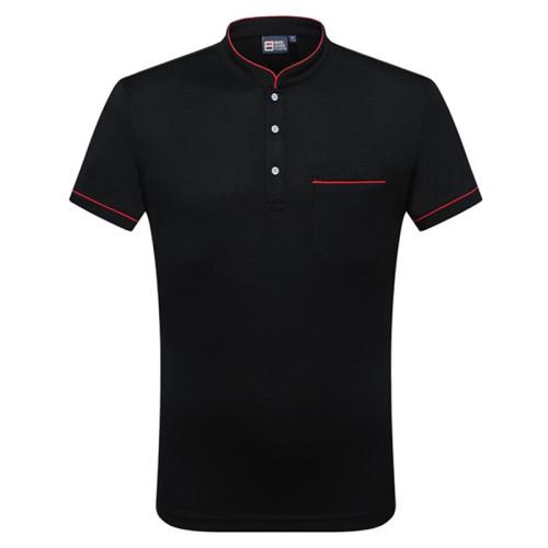 Unisex Hotel Uniforms |  Button Half Placket Short Sleeve Hotel Uniforms | Cheap Hotel Uniforms Wholesale