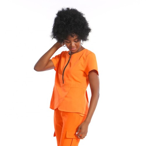 Scrub Sets For Doctors And Nurses | Short Sleeve Cheap Scrubs Uniforms Sets | Collocation With Logo Wholesale