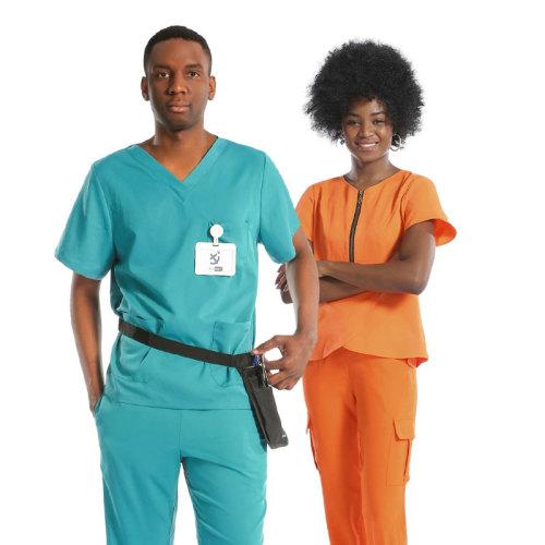 高品质短袖搭配磨砂膏,带有徽标,适用于医生和护士