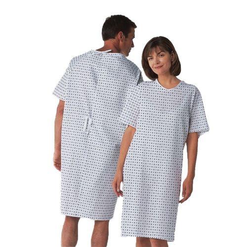 Unisex Patient Hospital Gowns Professional | Cotton Short Sleeve Hospital Gowns Plus Size | Cheap Patient Gowns Wholesale