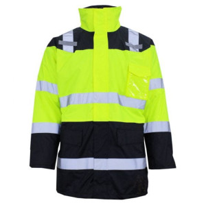 Men's Safety Jacket Uniforms |  Safety Jackets Reflective Top Detachable Hood | Custom Quality Safety Jackets With Company Logo