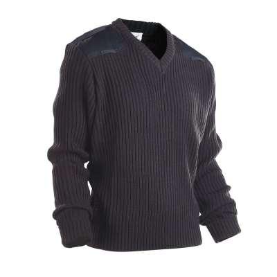 V 领贴片纯色毛衣安全制服