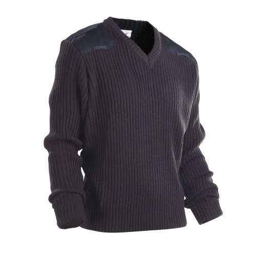 Men's Police Sweater Uniforms | V-neck Patch Police Sweaters Black | Custom Police Sweater Jerseys Wholesale